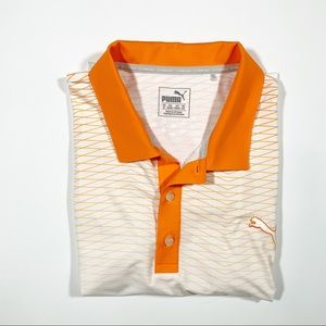 Puma Golf Polo in Orange and White Size XL